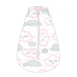 Studio Bag No Arms Cotton 0-6m My First 1.0 Tog Clouds Pink by Baby Studio