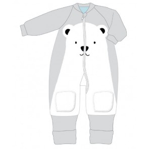 Warmies 6-12m Fleece With Arms My First 3.5 Tog Polar Bear by Baby Studio
