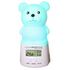Sleep Easy Teddy Night Light and Room Temperature Reading RA4330