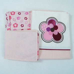 Raspberry Garden Cradle Sheet Set by Amani Bebe