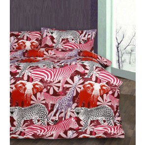 Red Retro Jungle Quilt Cover Set by Accessorize