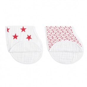Red Limited Edition Classic 2 Pack Burpy Bibs by Aden and Anais