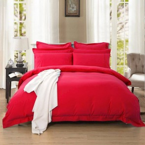 Red Tailored 1000TC Ultra Soft Quilt Cover Set by Fabric Fantastic