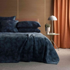 Rendall Midnight Bed Cover by Sheridan