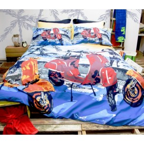 Scooter Queen Quilt Cover Set by Retro Home