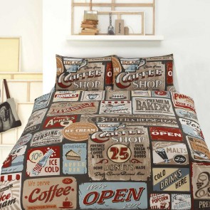 Signs Single Quilt Cover Set By Retro