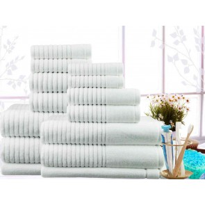 7PC Egyptian Cotton Ribbed Towel Packs by Ramesses