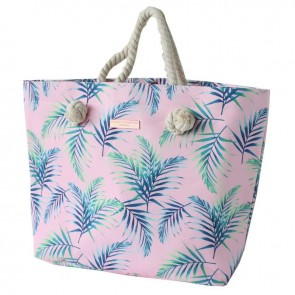 Rope Handle Beach Bag Pretty Palms by Escape To Paradise