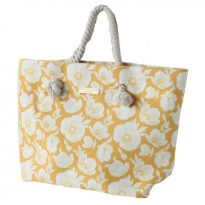 Rope Handle Beach Bag Sunshine Poppy by Escape To Paradise