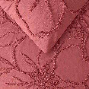 Rosa Dusty Pink Quilt Cover Set by Vintage Design