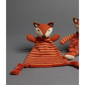 Rust Fox Baby Toy Soother by Jiggle & Giggle cs