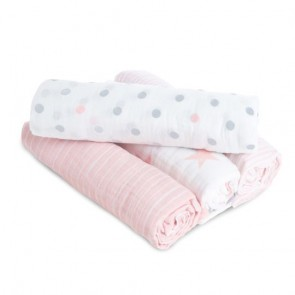 Doll 4-pack Muslin Swaddles - Aden by Aden and Anais