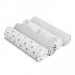 Dusty 4-pack Muslin Swaddles - Aden by Aden and Anais