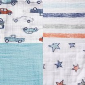 Hit the Road 4-pack Muslin Swaddles - Aden by Aden and Anais