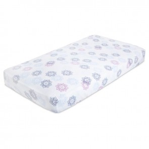 Pretty Pink Muslin Fitted Cot Sheet