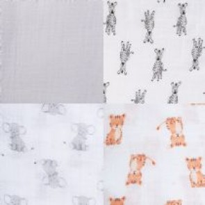 Safari Babes 4-pack Muslin Swaddles - Aden by Aden and Anais