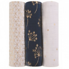 Metallic Gold Deco 4 Pack Swaddles by Aden and Anais
