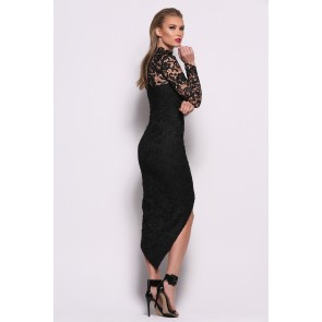 Saba Black Dress by Elle Zeitoune