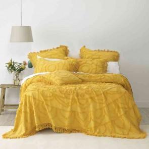 Santorini Single Bedspread Set Mustard by Bianca