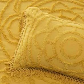 Santorini Queen Bedspread Set Mustard by Bianca
