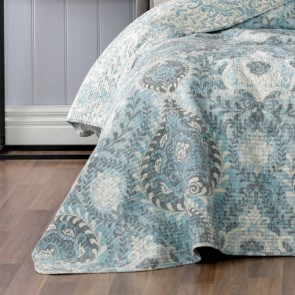 Braidwood Blue Double Bedspread by Bianca