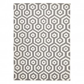 Scandi Geo Honeycomb Wool Rug by Rug Culture- 225x155cm