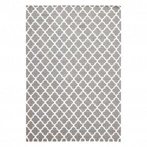 Scandi Geo Lattice Wool Rug by Rug Culture
