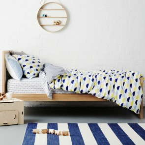 Scallop Blue Quilt Cover Set by Scout