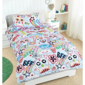 Scribble Skull quilt cover set by Happy Kids