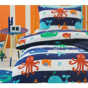 Sea Creatures Single Quilt Cover Set by Jiggle & Giggle cs
