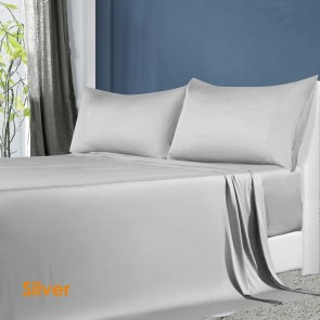 Silver 100% Natural Bamboo Sheet Set
