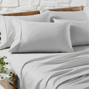 Silver 1200TC Premium Cotton Blend Sheet Sets by Ddecor Home