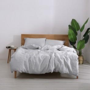 Silver Natural Home 100% European Flax Linen Sheet Set