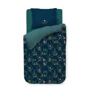 Singerie Dark Blue Cotton Quilt Cover Set by Pip Studio