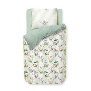 Singerie White Cotton Quilt Cover Set by Pip Studio