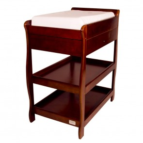 Sandton Sleigh Change Table With Draw English Oak by Babyhood
