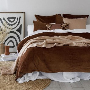 Sloane Quilt Cover Set Cayenne by Bambury
