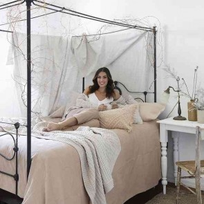 Sloane Quilt Cover Set Shell by Bambury