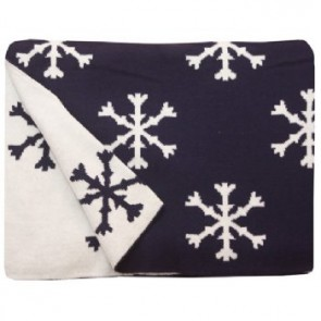 Snowflake Navy 100% Cotton Pram/Bassinet Blanket by Jacob $ Bonomi