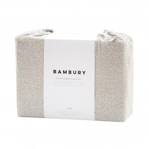 Spot Pebble Flannelette Sheet Set by Bambury