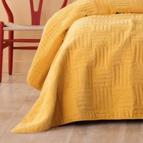 Raymond Mustard Single/Double Coverlet Set by Bianca