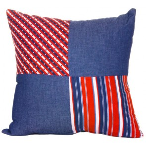 Stars & Stripes Breakfast Cushion by Lullaby Linen