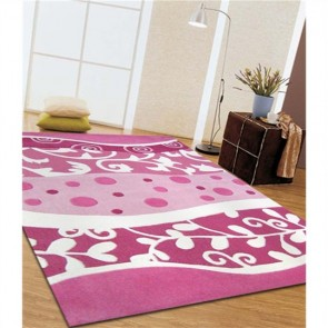 Stunning Pink and White Design Kids Rug by Unitex