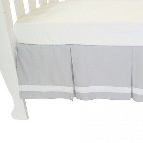 Summer Stripe Cot Crib Valance Grey by Babyhood
