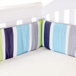Summer Stripe Lime Cot Bumper by Babyhood