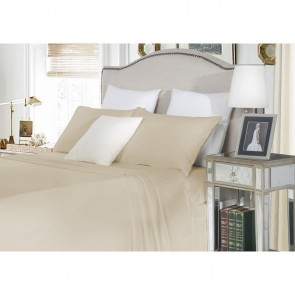 Super King Cotton Fitted Sheet Set in Linen 1500TC