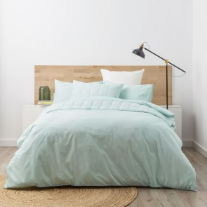Super King Paradis washed Chambray Quilt Cover set by Park Avenue