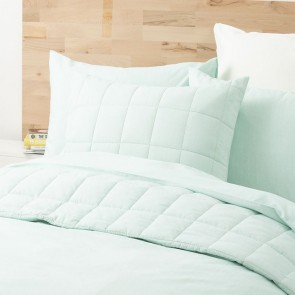 Paradis washed Chambray Queen Quilt Cover set by Park Avenue