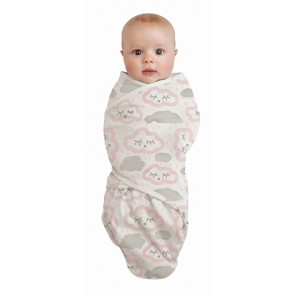 Clouds Pink Swaddlewrap by Baby Studio
