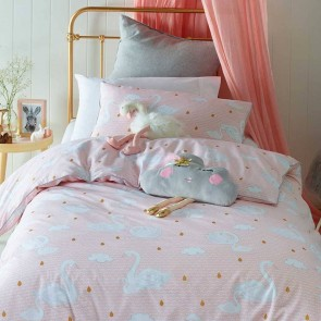 Swan Princess Queen Quilt Cover Set by Jiggle & Giggle cs